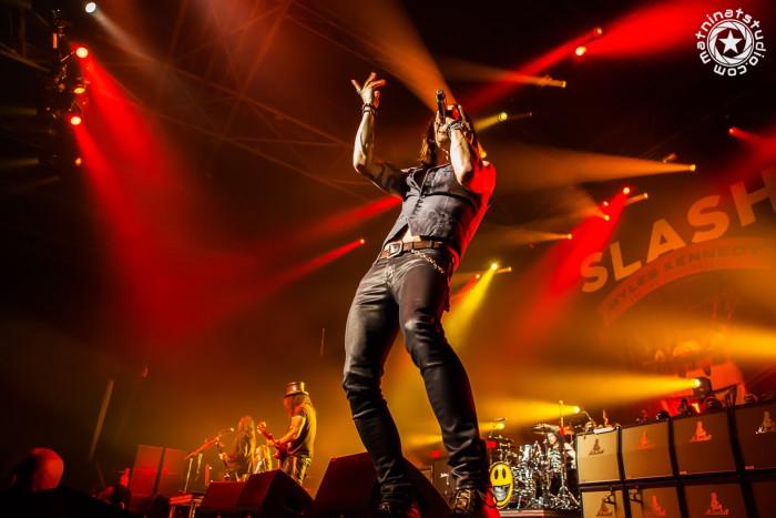 Live @ le Zénith de Paris, France. November 13th 2014. Slash, Myles Kennedy, Todd Kerns, Frank Sidoris & Brent Fitz. © copyright Mat Ninat Photography - all rights reserved