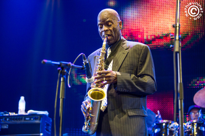 "Maceo Parker live @ Vence, France. Nuits du Sud Festival. July 11th 2015. Maceo Parker : saxophone Will Boulware : keyboards Rodney ""Skeet"" Curtis : bass Bruno Speight : guitar Dennis Chambers : drums Martha High : backing vocals Darliene Parker : backing vocals © Mat Ninat Photography"