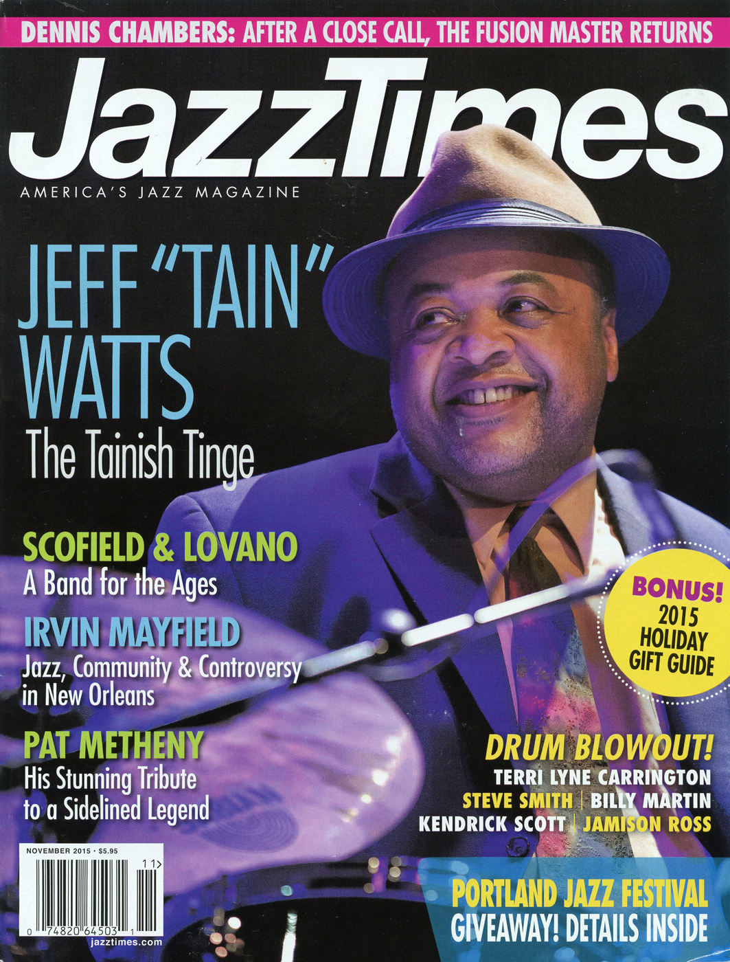 Jazz Times Magazine - November 2015 - Front Cover