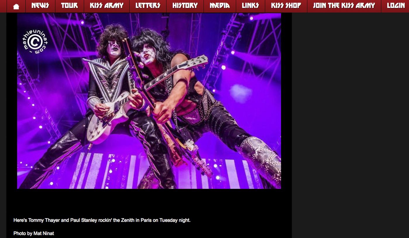 KISS live at the Zénith de Paris, France. June 16th 2015. © Mat Ninat Studio More pics here --->www.matninatstudio.com