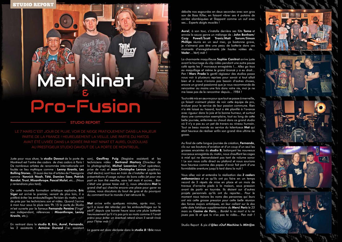 TV ROCK LIVE 9 | Mat Ninat & Pro-Fusion article