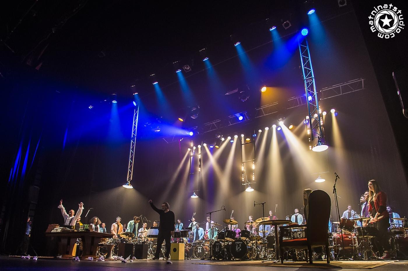 Ali Baba et les 40 batteurs live au Casino de Paris le 22 mars 2016. © MAT NINAT STUDIO - photographe, réalisateur, musicien