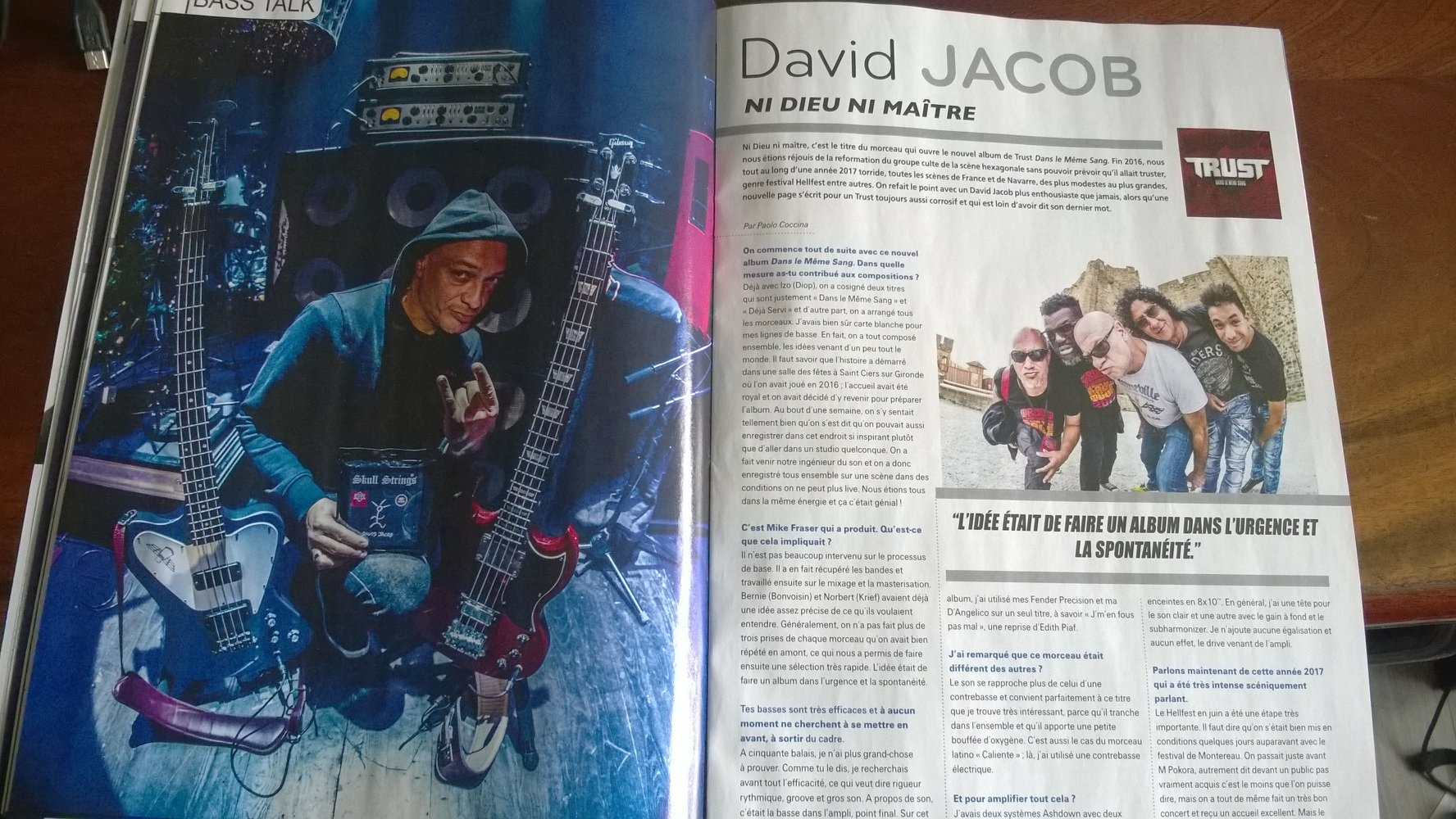 DAVID JACOB BASSISTE MAGAZINE