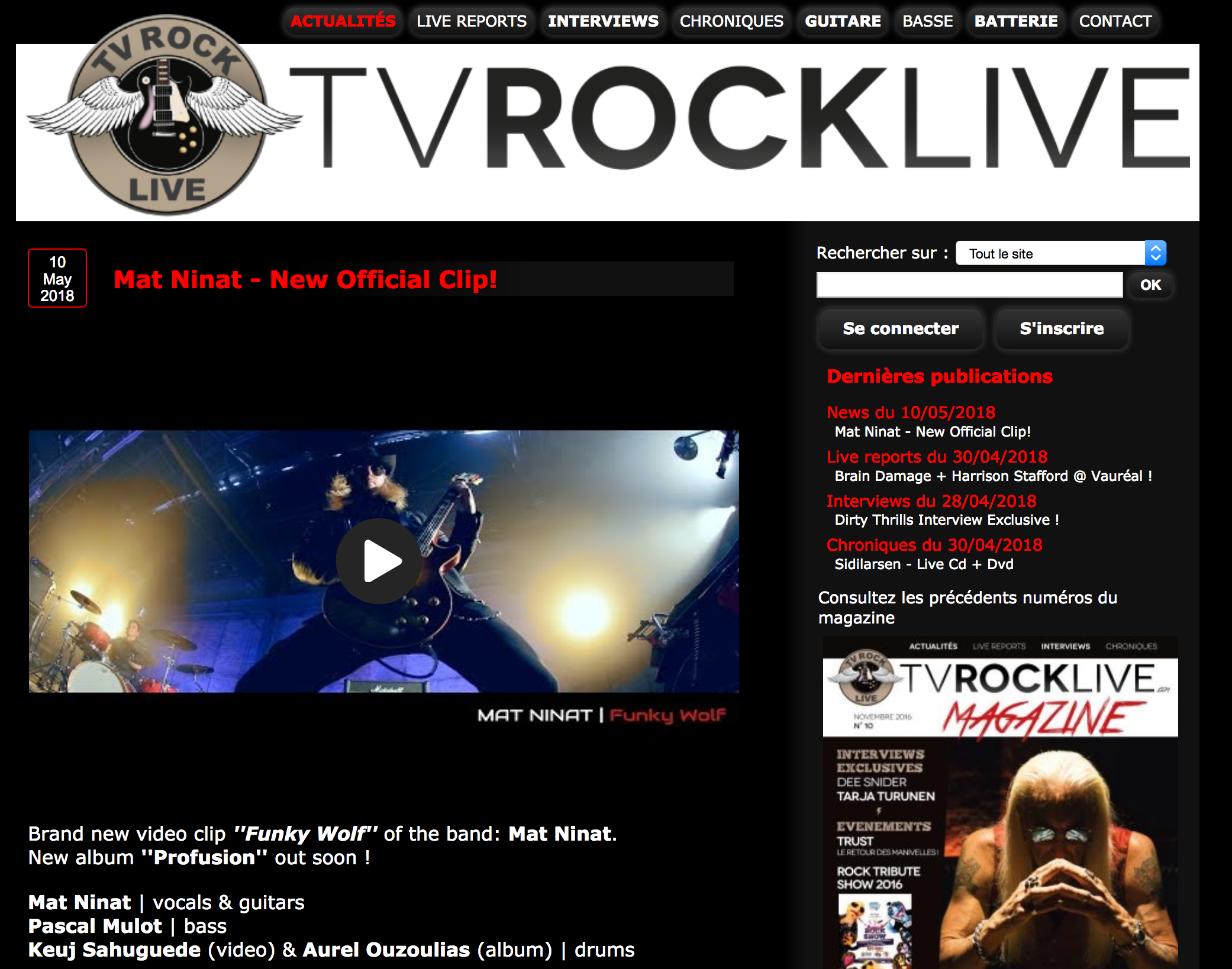 MAT NINAT TV ROCK LIVE